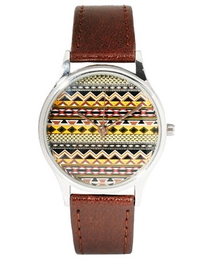 Image 1 ofASOS Fairisle Face Watch