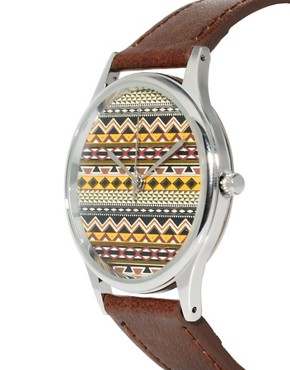Image 3 ofASOS Fairisle Face Watch