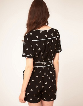 Image 2 ofWhistles Clover Print Playsuit