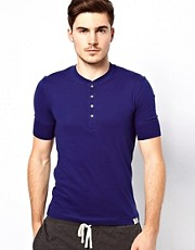 Paul Smith Short Sleeve Henley T-Shirt