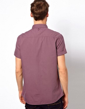 Image 2 of River Island Short Sleeved Oxford Shirt
