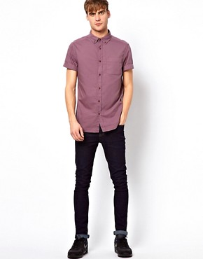 Image 4 of River Island Short Sleeved Oxford Shirt
