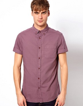 Image 1 of River Island Short Sleeved Oxford Shirt