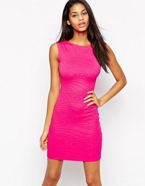 Lipsy Animal Textured Bodycon Dress