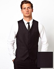 ASOS Slim Fit Waistcoat in 100% Wool