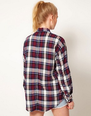 Image 2 ofHearts &amp; Bows Check Boyfriend Shirt