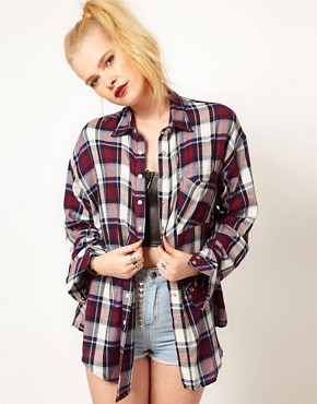Image 1 ofHearts &amp; Bows Check Boyfriend Shirt