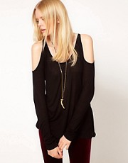 LnA Malta Open Shoulder T-Shirt