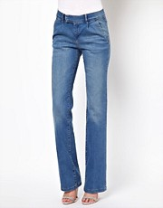 ASOS Tailored Wide Leg Jeans in Vintage Wash