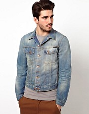 Nudie Denim Jacket Perry Light Worn Wash