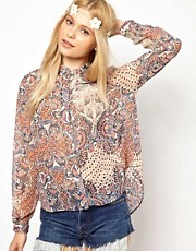 River Island Chelsea Girl Paisley Print Shirt