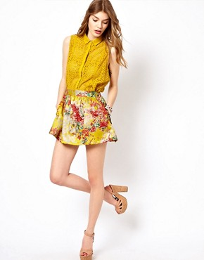 Image 1 ofd.RA Printed Skater Skirt
