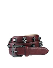 River Island Stud Cross Skull Belt