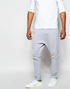 ASOS Drop Crotch Joggers In Pique Fabric