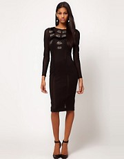 ASOS Midi Bodycon With Diamante And Beading