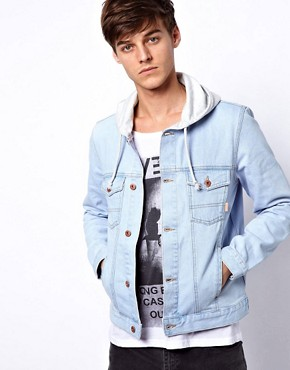 Image 1 ofASOS Denim Jacket With Hood