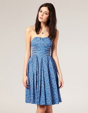 Image 1 ofRiver Island Heart Beaded Bandeau Dress
