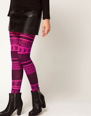 Image 1 ofASOS Opaque Fairisle Tights