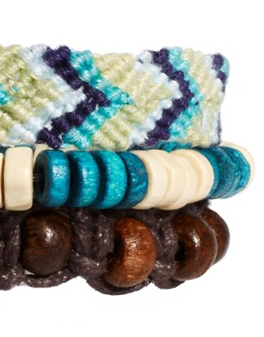 Image 4 of ASOS Bead And Woven Bracelet Pack
