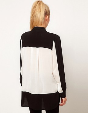 Image 2 ofASOS Shirt With Monochrome Colourblocking