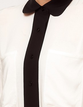 Image 3 ofASOS Shirt With Monochrome Colourblocking