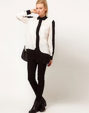 Image 4 ofASOS Shirt With Monochrome Colourblocking