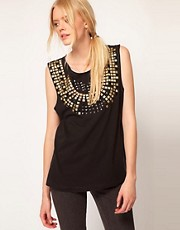 Sass &amp; Bide Light Pop T-Shirt With Embellished Collar