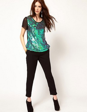 Image 4 ofLashes Of London Backless T Shirt in Mermaid Sequin