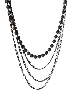 Image 4 ofASOS Dark Beads Necklace