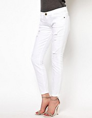 Current/Elliott Stilletto Destroyed Skinny Jeans
