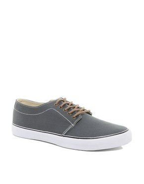 Image 1 ofASOS Plimsolls With Contrast Heel