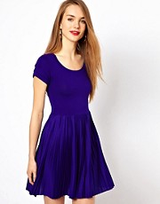 French Connection Skater Dress With Pleat Skirt