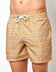 Bellfield Floral Print Swim Shorts