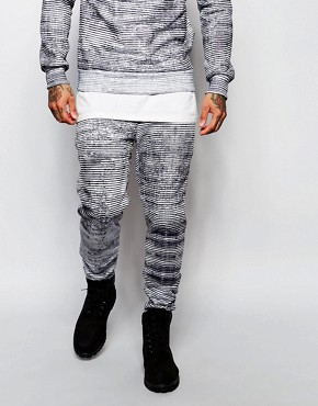 Criminal Damage Joggers in Faded Stripe