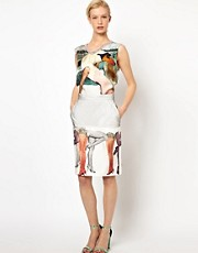 Louise Amstrup Pencil Skirt in Legs Print