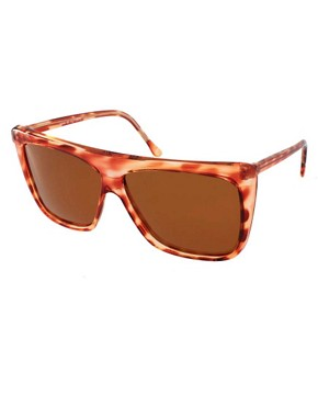 Image 1 of Reclaimed Vintage Flat Brow Sunglasses