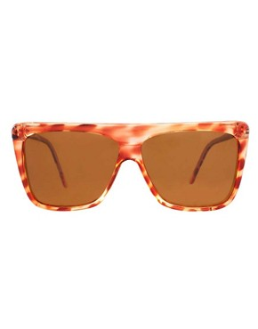 Image 2 of Reclaimed Vintage Flat Brow Sunglasses