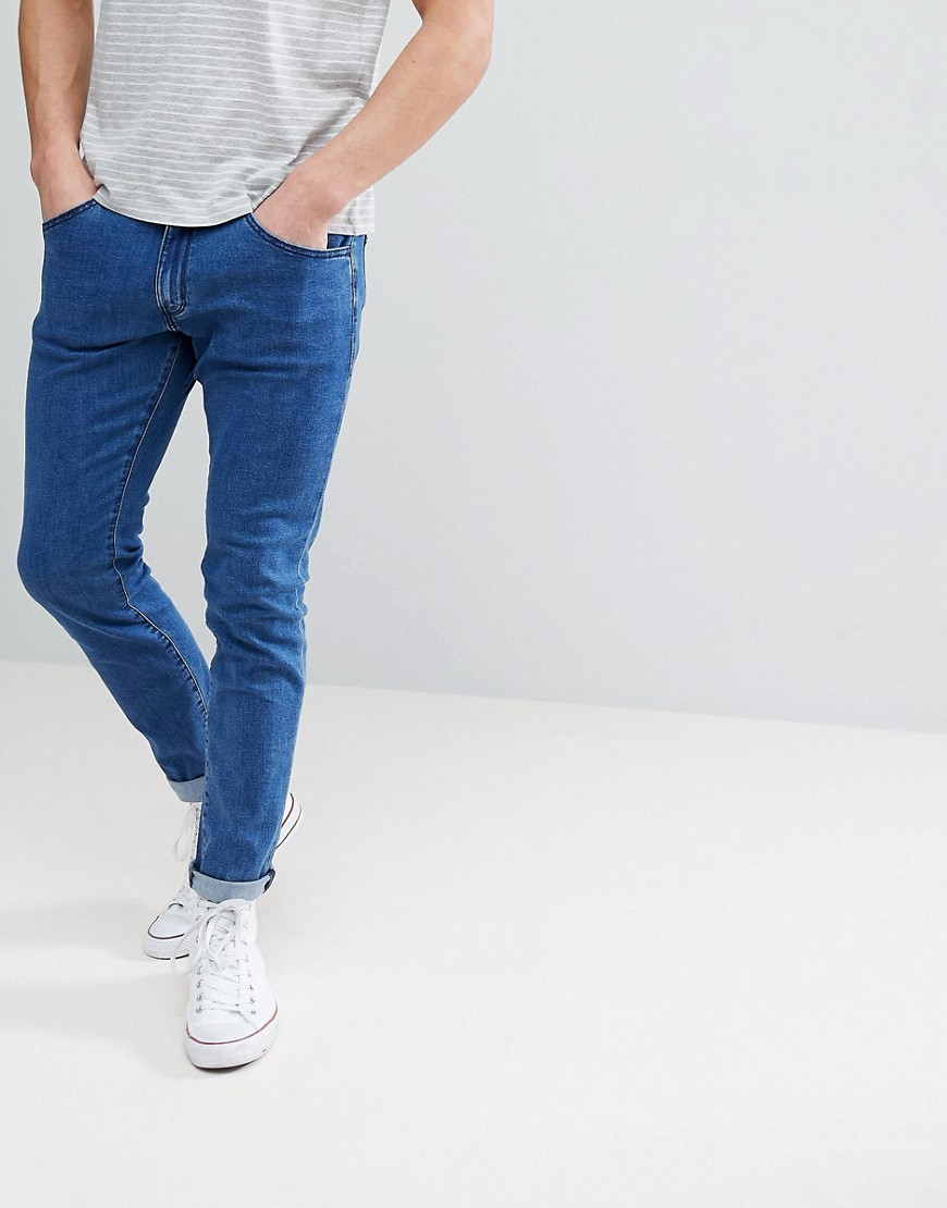 Wrangler Bryson Skinny Jeans Made of Stone Blue