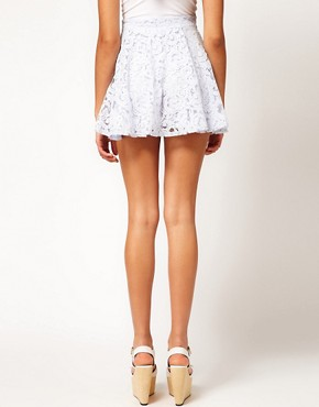 Image 2 ofRiver Island Blue Lace Skater Skirt