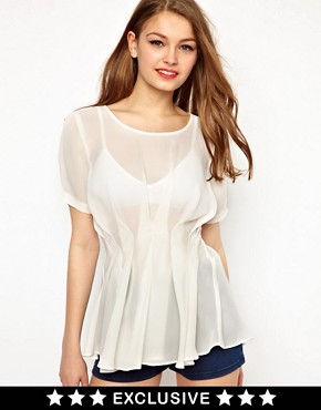 Image 1 ofA Wear Fishtail Top