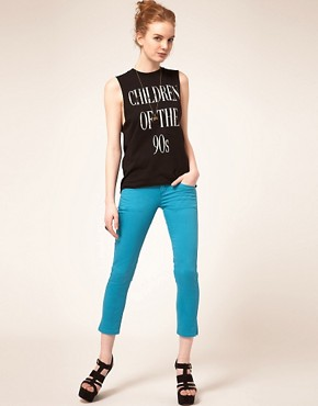 Image 4 ofMonkee Genes Fairtrade Crop Skinny Jeans