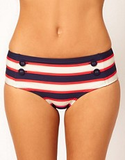 Marc By Marc Jacobs Field Stripe Hipster Bikini Bottom