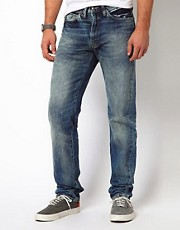 Levi&#39;s Vintage  1954 501  Jeans in regulrer, zulaufender Passform mit Webkante