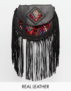 Hiptipico Moza Hand Crafted Leather Across Body With Fringing