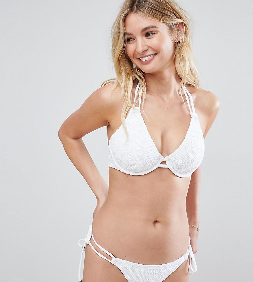 Imagen principal de producto de Braguitas de bikini atadas a los lados en blanco Sundance Rio de Freya - Freya