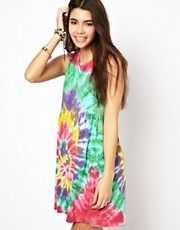 ASOS Smock Dress in Hand Tie Dye