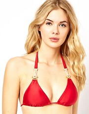Vix Dakar Triangle Bikini Top With Accessory Hardware