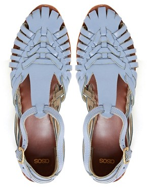 Image 2 ofASOS FRANCESCA Leather Flat Sandals
