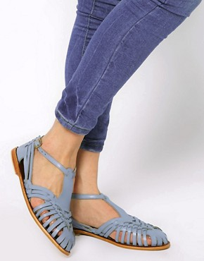 Image 3 ofASOS FRANCESCA Leather Flat Sandals