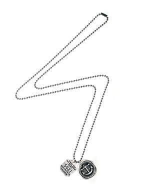 Image 2 ofASOS Anchor and Dog Tag Necklace